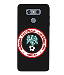 ColorKing Football Nigeria 03 Black shell case cover for LG G6
