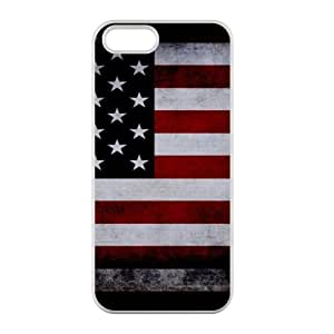 USA Flag for iPhone 5,5S Case Cover Laser Technology 100% TPU