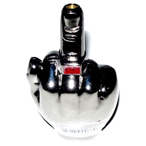 Middle Finger Refillable Butane Torch Lighter with Sound