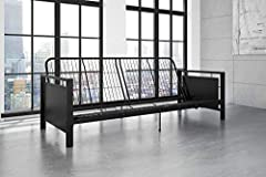 The recent rise of modern industrial design can be seen in every room in the house—from wood and metal dining sets to metal-studded coffee tables and bookshelves made from old piping. So it's no surprise that the versatile Henley futon captur...