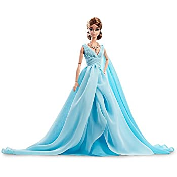 Amazoncom Barbie Fashion Model Collection Blue Chiffon Ball Gown