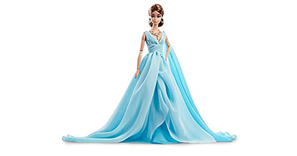 """Barbie Doll Silkstone  /"""" Blue Chiffon Ball Gown /"""" Reinstone Necklace Only"""