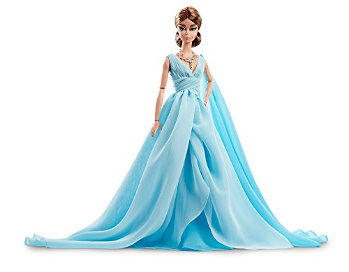 - Barbie Fashion Model Collection Blue Chiffon Ball Gown Doll