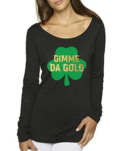 Funny St Patricks Day Shirt - Off The Shoulder St Patrick Day Shirts Women - Gimme Da Gold