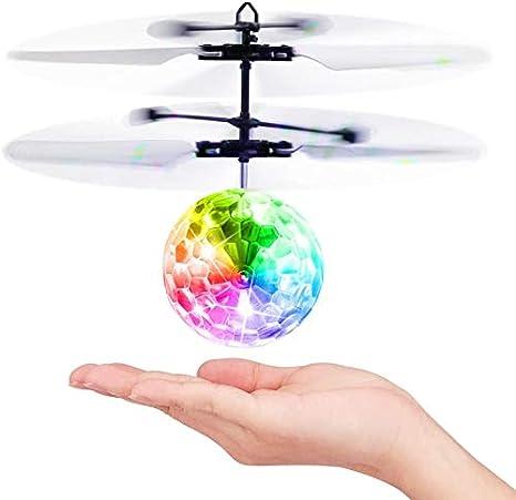 Baztoy Bolas Voladoras, RC Aviones Helicopteros Teledirigidos con Luces LED Mini Dron Juguetes Niños Niñas 3 4 5 6 7 8 9 10 11 12 Años Regalos Pascua Cumpleaños Navidad Juegos Jardín Interior Exterior