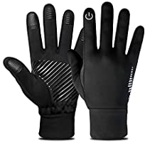 SUPRBIRD Windproof Thermal Gloves, Winter Gloves, Touchscreen Gloves Cold Weather Cycling Gloves Winter Warm Sports...