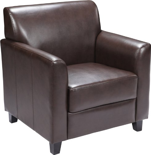Flash Furniture HERCULES Diplomat Series Brown Leather Chair (Sale Armchairs Leather Small For)