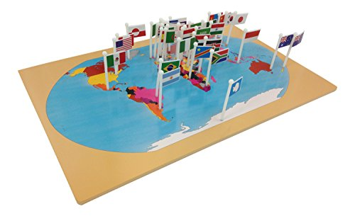 Kid advance montessori world map flags and stand buy online in kid advance montessori world map flags and stand buy online in uae office product products in the uae see prices reviews and free delivery in dubai gumiabroncs Choice Image