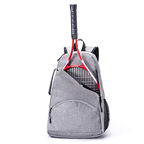 QEES Tennis Racket Holder Bag for Women, Tennis Backpack, Large Capacity Tennis & Racquet Sports Duffle Bag, 36L Racket Holder Equipment Bag for Tennis, Racquetball, Squash GJB1129 (Grey)