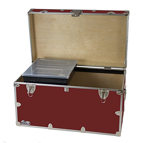 College Dorm Room & Summer Camp Lockable Trunk Footlocker with Tray - Graduate Trunk by C&N Footlockers - Available in 20 colors - Extra-Large: 32 x 18 x 18.5 - Clothing Stores West Key