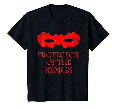 Kids Kids Funny Protector of the Rings Tshirt- Kids wedding Shirt