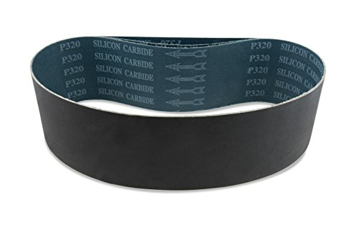 4 X 21 Inch 120 Grit Silicon Carbide Sanding Belts, 3 Pack