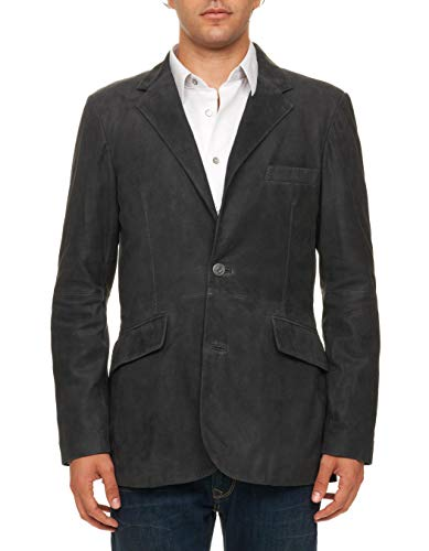 Robert Graham Coalman Herringbone Embossed Lambskin Jacket Black 42