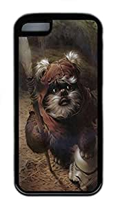 iPhone 5C Case Star Wars Ewok Painting Art TPU Custom iPhone 5C Case Cover Black