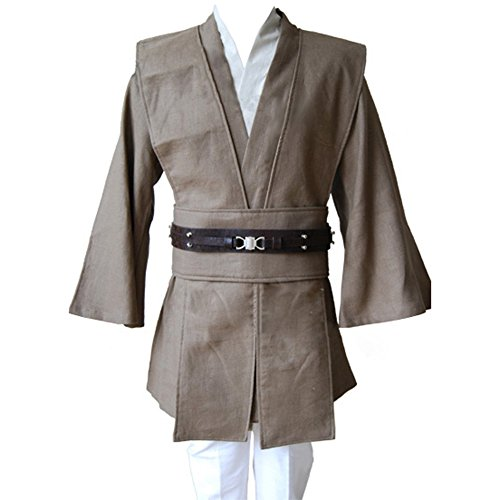 Cosplaysky Men's Halloween Costume Tunic Uniform Brown Outfit Large