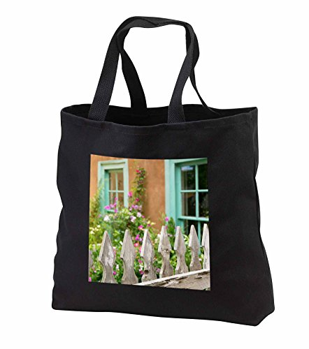 Price comparison product image Danita Delimont - Taos - Looking into a garden of a traditional adobe house, Taos, New Mexico - Tote Bags - Black Tote Bag 14w x 14h x 3d (tb_251236_1)