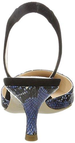 Dei Mille Paul-55, Sandalias Punta Cerrada para Mujer Multicolor (Nero/blau)