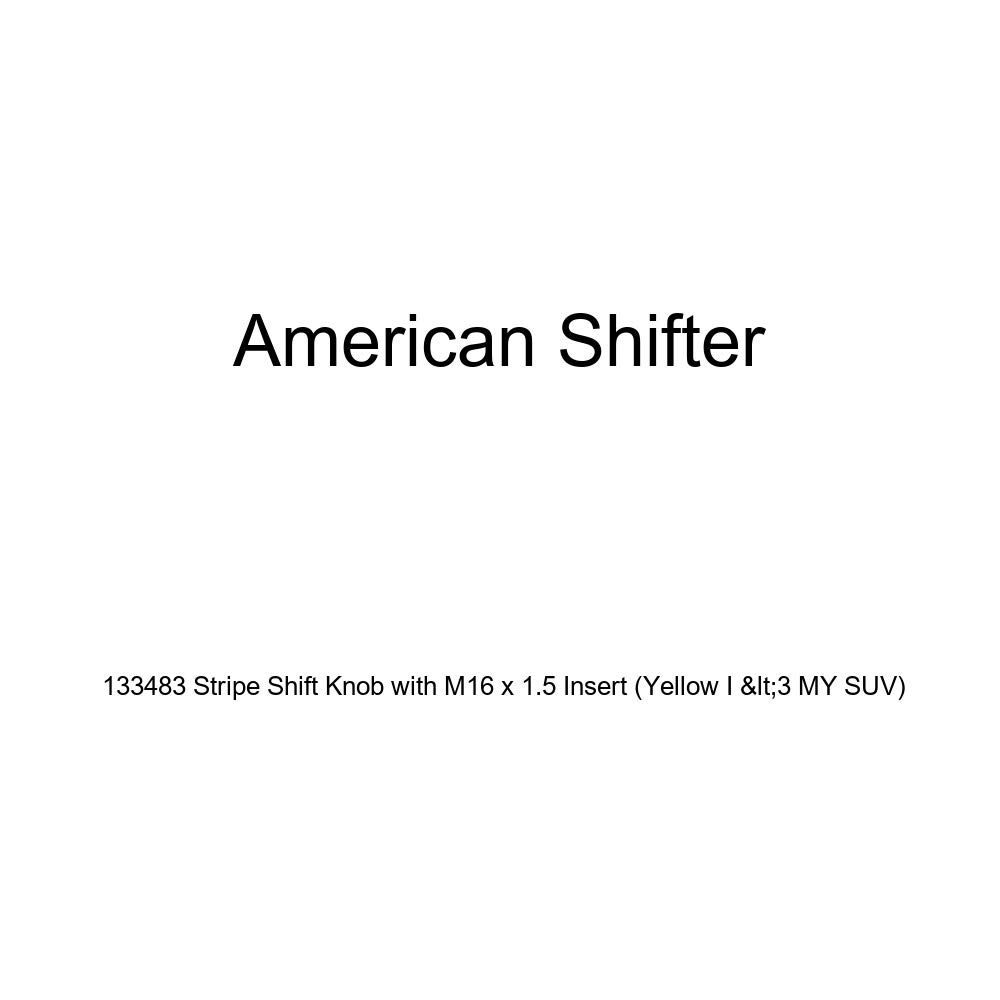American Shifter 133483 Stripe Shift Knob with M16 x 1.5 Insert Yellow I 3 My SUV