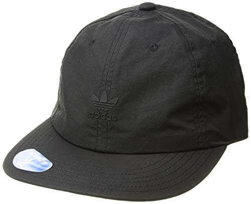 adidas Men's Originals Repeat Relaxed Adjustable Strapback Cap, Black/Black/White, One Size ()