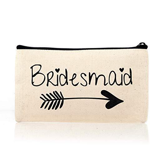 Bridesmaid Makeup Bag, Bridesmaid Gift, Maid of Honor Lovely Bridal Party Wedding-2