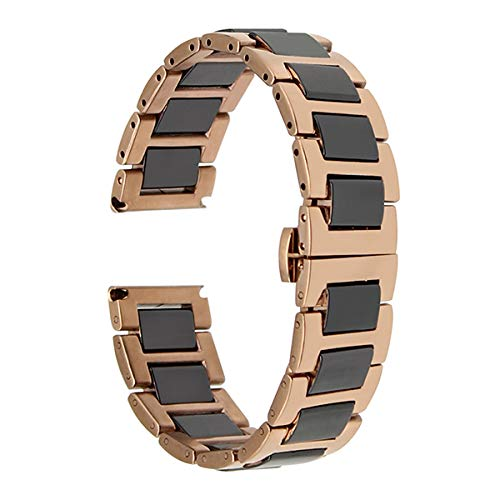 Jewh Watch Band 20mm for Garmin - Vivomove Butterfly Buckle - Strap Wrist Belt - Bracelet