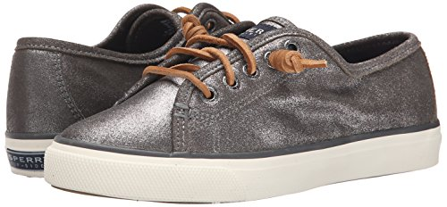 Grey Womens Sperry Seacoast Metallic Trainers Leather Shoes 0wY6w