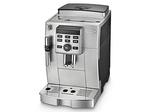 Delonghi super-automatic espresso coffee machine  with an adjustable grinder, milk frother, maker for brewing espresso, cappuccino, latte. ECAM23120SB