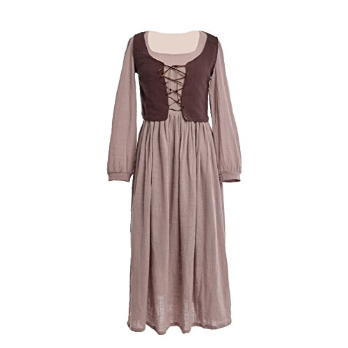 BLESSUME Wench Dress Peasant Maid Renaissance Medieval Costume -