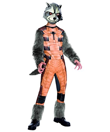 Deluxe Rocket Raccoon Kids Costumes (Deluxe Rocket Raccoon Costume - Medium)