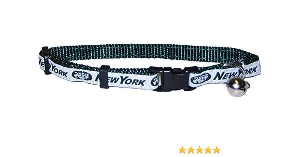 Amazon.com   Pets First NFL CAT Collar. - New York Jets CAT Collar. -  Strong   Adjustable Football Cat Collars with Metal Jingle Bell   Pet  Supplies 22cbdae07