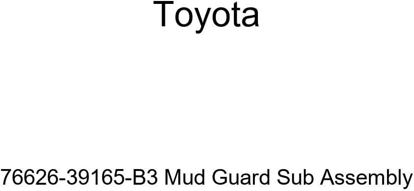 TOYOTA Genuine 76626-39165-B3 Mud Guard Sub Assembly