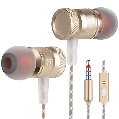 Earbuds Earphones in Ear Headphones Ear Buds for Music Wired Headphones Earbuds Noise Cancelling Compatible MP3 Players, Samsung,Android Smart Phone Stereo Heave Bass