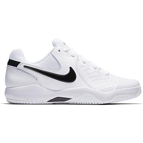 NIKE Men's Air Zoom Resistance Tennis Shoe White/Black Size 11 M US ()