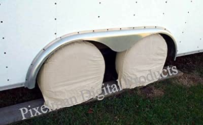 "4 Storage Tire Wheel Covers Camper Car Auto Trailer Truck RV fits 27 28 29 30"" diameter tires"