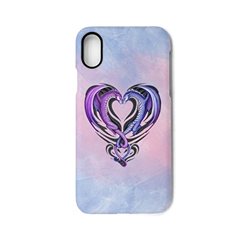 Gtyi Purple Love Dragon Heart Bird Dragon IPhone X Case Slim Shockproof Soft Flexible TPU Back Cover