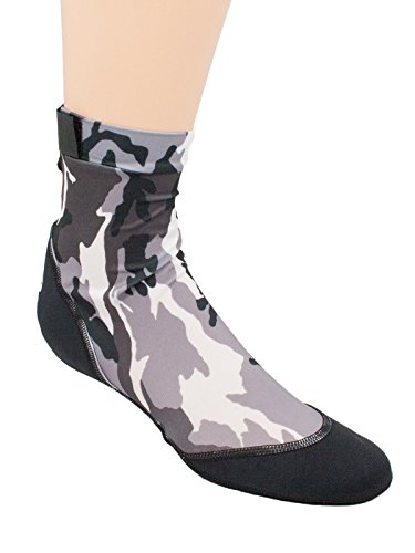 Chaussettes De Sable Vincere Pour La Plongée En Apnée, Beach Soccer, Sand Volley-ball Camo Noir (made In The Usa)