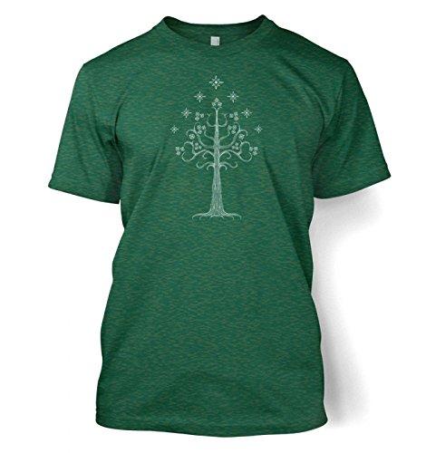 Weiß Tree of Gondor T-Shirt (XX-Large (50/52)/Antique Jade Dome) Grün
