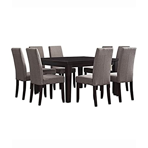 Lovely Simpli Home Acadian 9 Piece Dining Set, Light Mocha