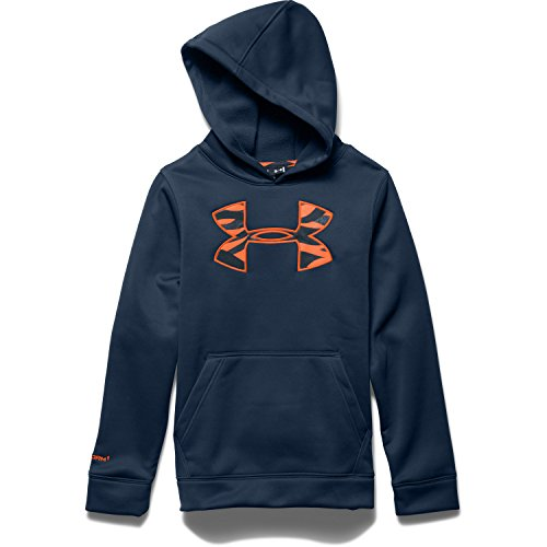 Under Armour Youth Rival Hoodie Academy / Bolt Orange Large