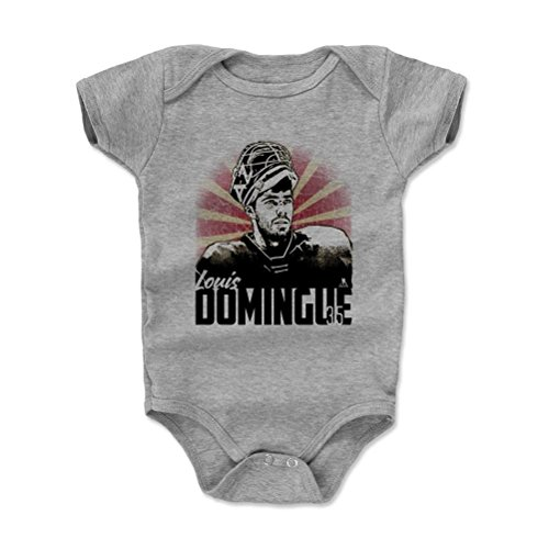 500 LEVEL's Louis Domingue Infant & Baby Onesie Romper 6-12M Heather Gray - Louis Domingue Classic K - Arizona Hockey Fan Gear Officially Licensed by the NHL Players Association