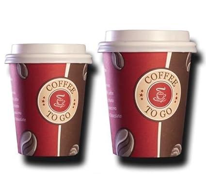 100 Coffee TO GO Becher Deckel 300 ml Pappbecher Coffeebecher TOP