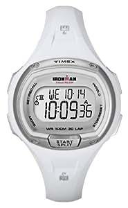Timex Timex Ironman 30 Lap - Reloj digital de mujer de cuarzo con correa de goma blanca (luz, cronómetro, alarma, cuenta vueltas)