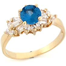 10k Gold Synthetic Birthstone CZ Ring