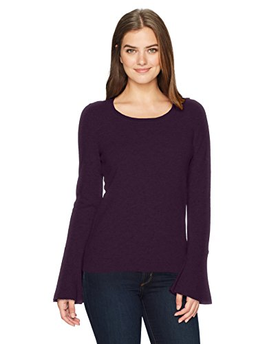 Lark-Ro-Womens-100-Cashmere-Bell-Sleeve-Sweater