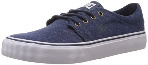 Dc Mens Trase Tx Se Skateschoen Dark Denim / Wit
