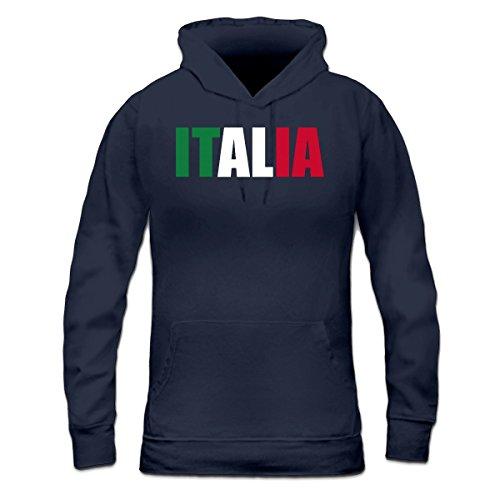 Sudadera con capucha de mujer Italia Logo by Shirtcity Azul marino
