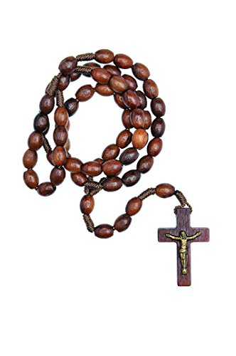IntercessionTM First Wood Rosary - Made in Brazil (Walnut - 6/8mm Beads ()