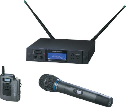 Audio-Technica AEW-4313AD 4000 Series Wireless Handheld Microphone and Body Pack Combo System