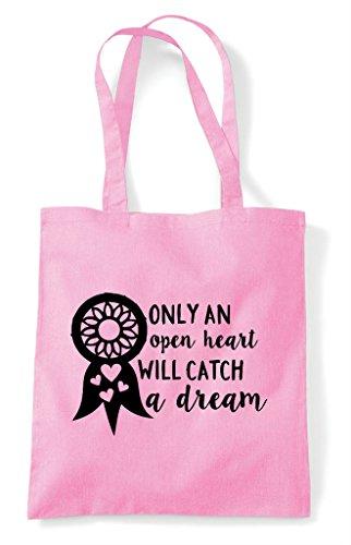 Statement Light Heart Dream Catch Pink Tote Open An Dreamcatcher Bag Will Shopper Only A q87FE