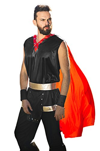 Greek Olympian Costume (Men's Ancient Royal Warrior King of Swords Dress Up & Role Halloween Play Costume (Medium/Large))